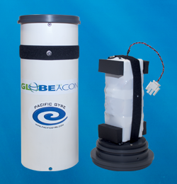 GLOBEACON global tracking beacon with battery removed